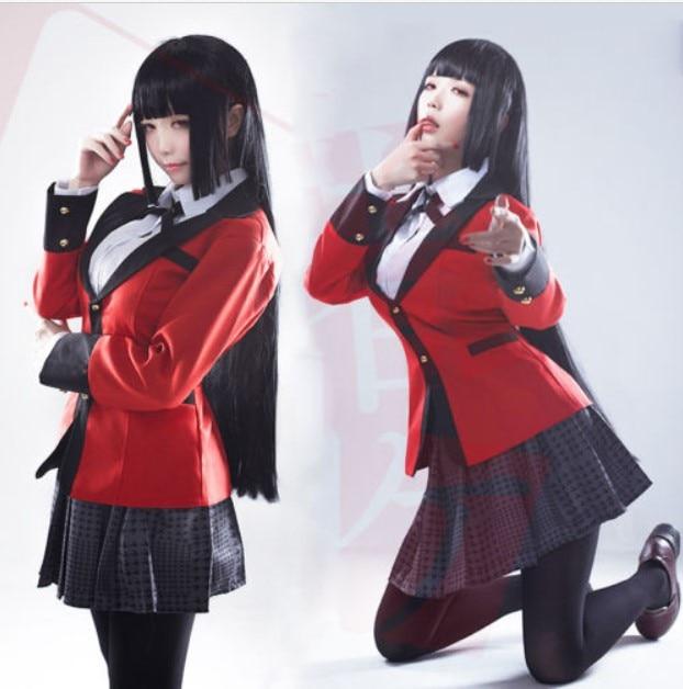 Anime Kakegurui Yumeko Jabami School Cosplay  Uniforms Suit  Costumes Full Set