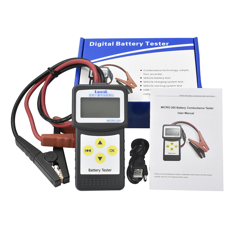 Lancol M200 12V 2000CCA Car Battery Tester Battery System Detect Automotive Car Bad Cell Battery Diagnostic Tool Multi-language