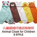Envío gratis Bebé ponchos animal toalla extrafina de la fibra mantas de bebé bebé manto Manto Anillo de papel