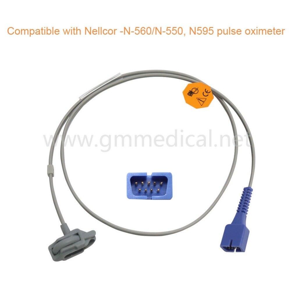 Neonate Silicone Wrap Spo2 Sensor Compatible With Nellcor, DB9 Male 9pin 1M Oximax Technology Pulse Oximeter mindray neonate wrap spo2 sensor length 3 meter 5pin spo2 probe medical tpu cable