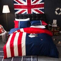 2018 детей постельных принадлежностей размер королева в пододеяльник британский флаг хлопок матраса equipado покрывало drap де горит постельное б