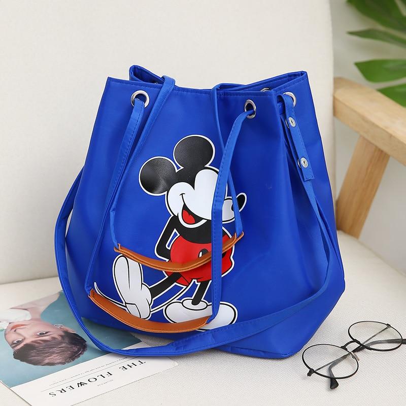 2019 New Mickey Minnie Handbag Waterproof Women Bag Large Capacity Tote Female Shoulder Bag Ladies Shopping Bag  Bolsa Feminina