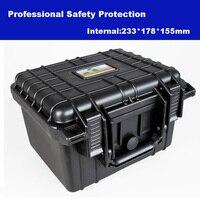 Profesyonel Alet çantası araç kutusu bavul Darbeye dayanıklı mühürlü su geçirmez plastik durumda ekipman kutusu kamera çantası köpük