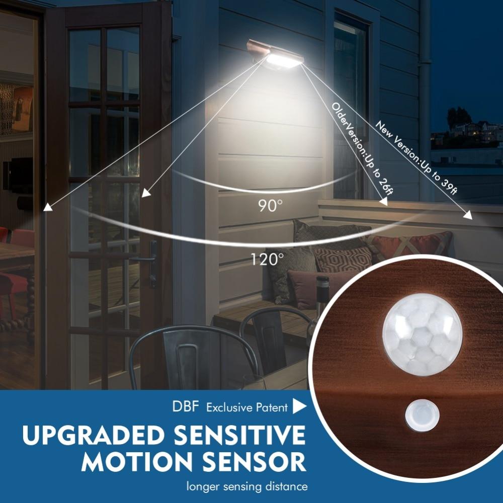 Luz do sensor de movimento de dbf