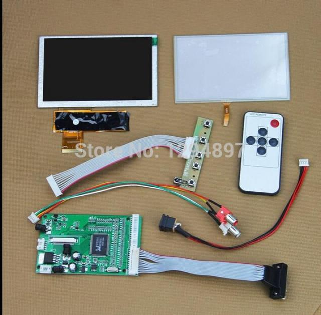 "5"" inch 800x480 TFT LCD Color  Display + VGA AV Video Controller Board With Touch Screen"