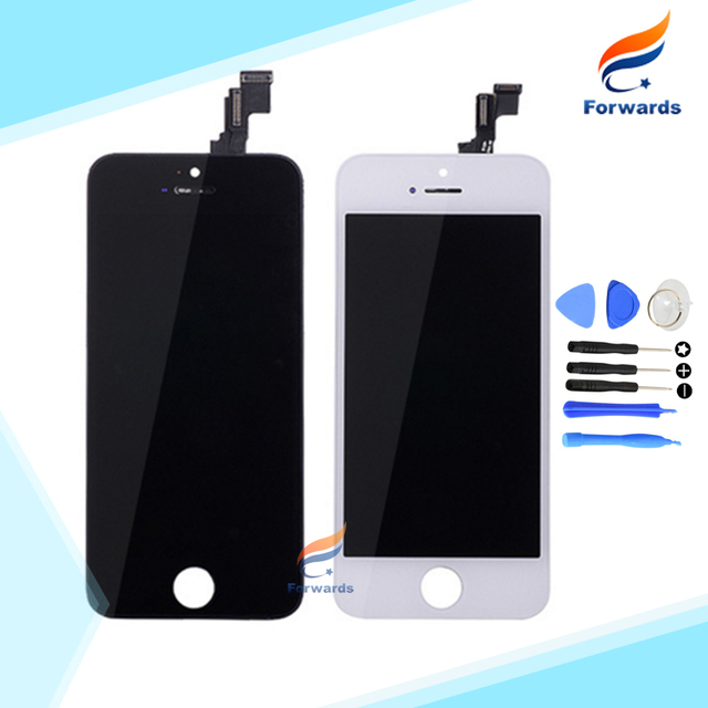100% Guarantee for iphone 5s Lcd Screen Display with Touch Digitizer + Tools Full Assembly Black&White 1 piece HK free shipping
