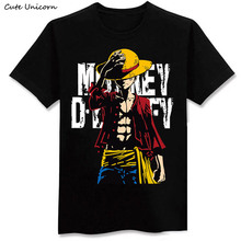 2016 New arrivals One Piece Luffy T shirt casual cotton tshirt homme O neck man t