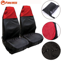 Universal Car Seat Dust Covers Anti-dirty Waterproof Auto Front Seat Chair Protector Cushion Case For Pet Dogs Black Red Blue