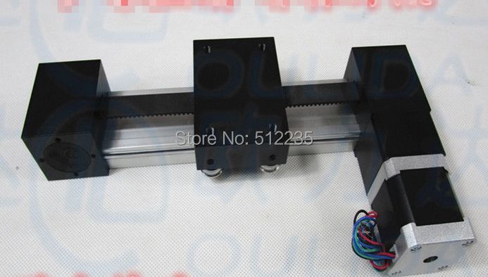 цена на XP timing belt slide module Sliding Table effective stroke 400mm+1pc nema 17 stepper motor XYZ axis Linear motion