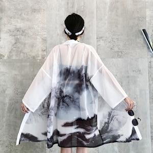 Japanese outfits kimono cardigan women yukata female Chinese kimono harajuku kawaii clothing blouse shirt haori obi KK2729(China)