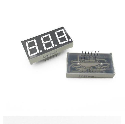 5 PCS 0.56 Inch 3 Digit 7 Segment Common Cathode Red Led Display 3 5 digit 7 segment lcd display module