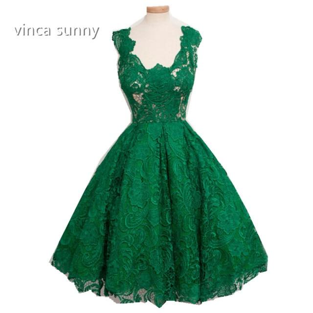 d312c0d95b US $119.0 | vinca sunny 2018 Classic Emerald Green Lace Prom Dresses A Line  vestido de festa de casame Formal Gowns Important Party Dress -in Prom ...