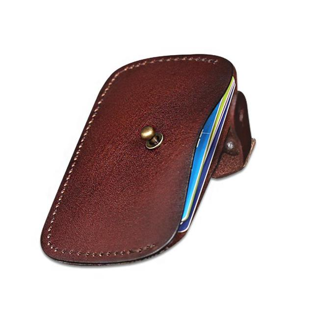 2016 New Fashion Card Holder Genuine Leather Credit Card Case Crazy Horse Men Women Card Holder