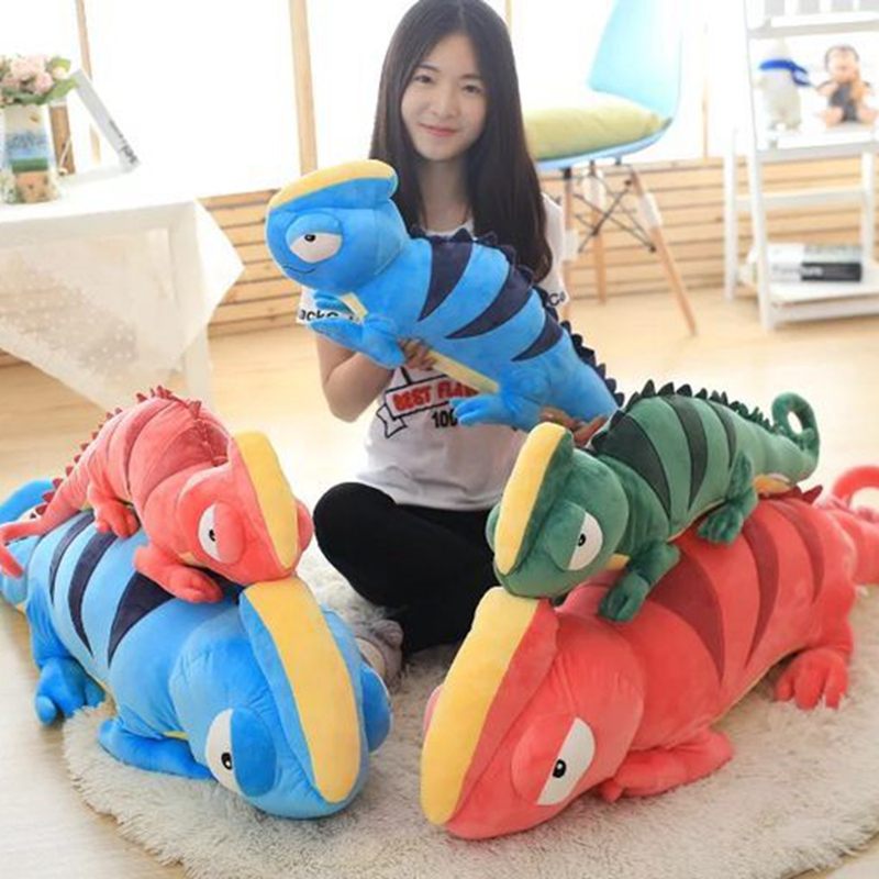 2017 New Style Chameleon Plush Toys Lizard Cloth Doll Pillow Cushion For Soft Stuffed plush boy toys birthday gift for Children 6pcs plants vs zombies plush toys 30cm plush game toy for children birthday gift