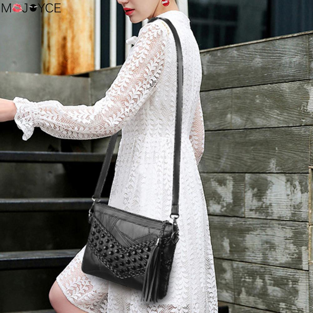 Women Braid Weave Messenger Bags bolsos mujer Women Leather Tassel Handbags 57c8eca4cca00