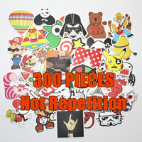 HOT 50PCS JDM Car Styling Funny Cool Sticker Bomb Waterproof Graffiti Doodle Sticker Skateboard Decal Toy
