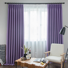 SunnyRain 1-Piece Solid Color Blackout Curtain For Living Room Window Curtain Drape For Bedroom Customizable