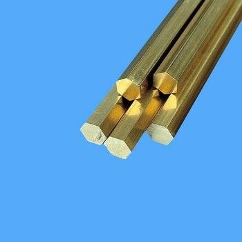 7mm (plano a plano) 500mm de largo 2 unids/lote barra Hexagonal de latón H59 H62 barra Hexagonal de cobre todos los tamaños en Stock Hardware