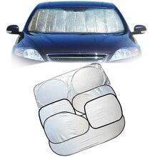6 Pcs Folding Silvering Reflective Car Windshield Window Sun Shade Visor Shield Cover Suction Cup Car Sunshield Sunscreen Curtain