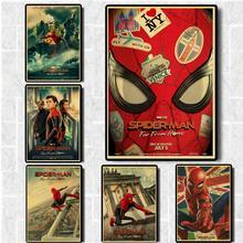 Marvel película Spider-Man lejos del cartel para casa para la decoración de la habitación papel Kraft Vintage impreso carteles pared artística pegatinas