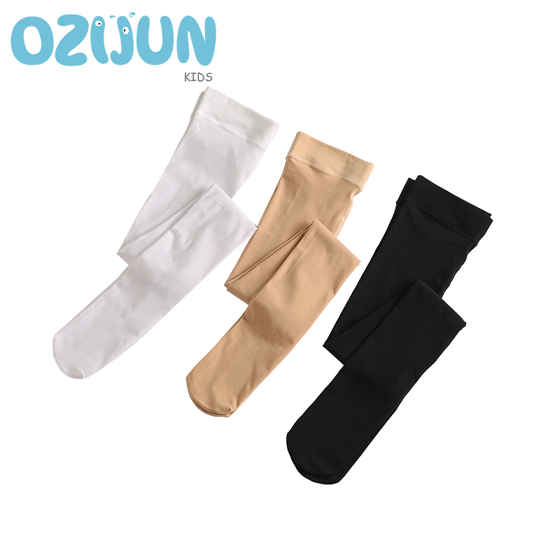 Top Quality 80 Denier Thick Girls Ballet Dance Pantyhose White Black Children Tights Professional Dance Stockings 3 Color 4 Size