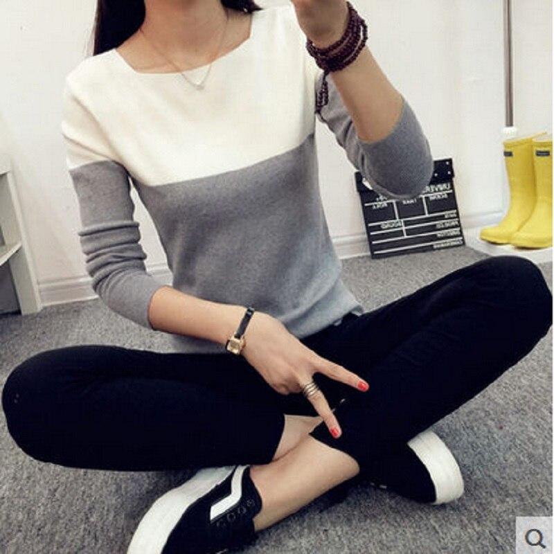 Nové 2016 módní ženský svetr ženy jaro pletené svetry s dlouhým rukávem tenký úplet letní styl pletený svetr