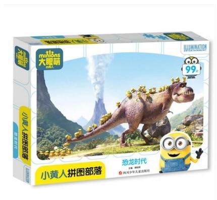 Disney 99Pcs Cartoon Minions Puzzle Toys Baby Educational Training Toys Kids Gift Animal Puzzle For Infant Baby Jigsaw