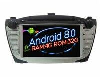 Octa (8) Core Android 8.0 Car Dvd Player gps CHO Hyundai IX35 Tucson 2009-2013 Navi đa phương tiện âm thanh tự động stereo RAM 4 Gam ROM 32 Gam