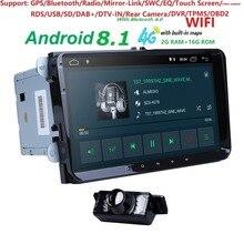 Android 8,1 9 «2din автомобиля AutoAudio для V W поло GOLF 5 6 поло PASSAT B6 CC J ETTA Tiguan Touran EOS шаран SCIROCCO CADDY gps Navi