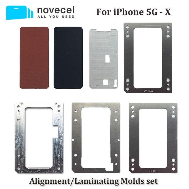 Novecel إصلاح الهاتف المحمول آيفون 6 6s 7 8 Plus تحديد المواقع محاذاة الترقق قوالب متوافقة ل YMJ آلة Q5 تغليف