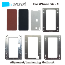 Novecel Cellphone Repair for iPhone 6 6s 7 8 Plus Positioning Alignment Laminating molds Compatible for YMJ Machine Q5 Laminator 2017 new 12 generation m230 8230 laminator a4 rollers laminator hot roll laminating machine