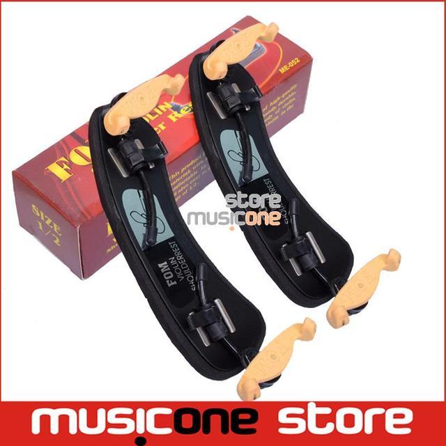 2 pcs wholesale FOM Violin Double Side Adjustable Shoulder Rest ME-052 for 1/2  Violin parts Free Shipping