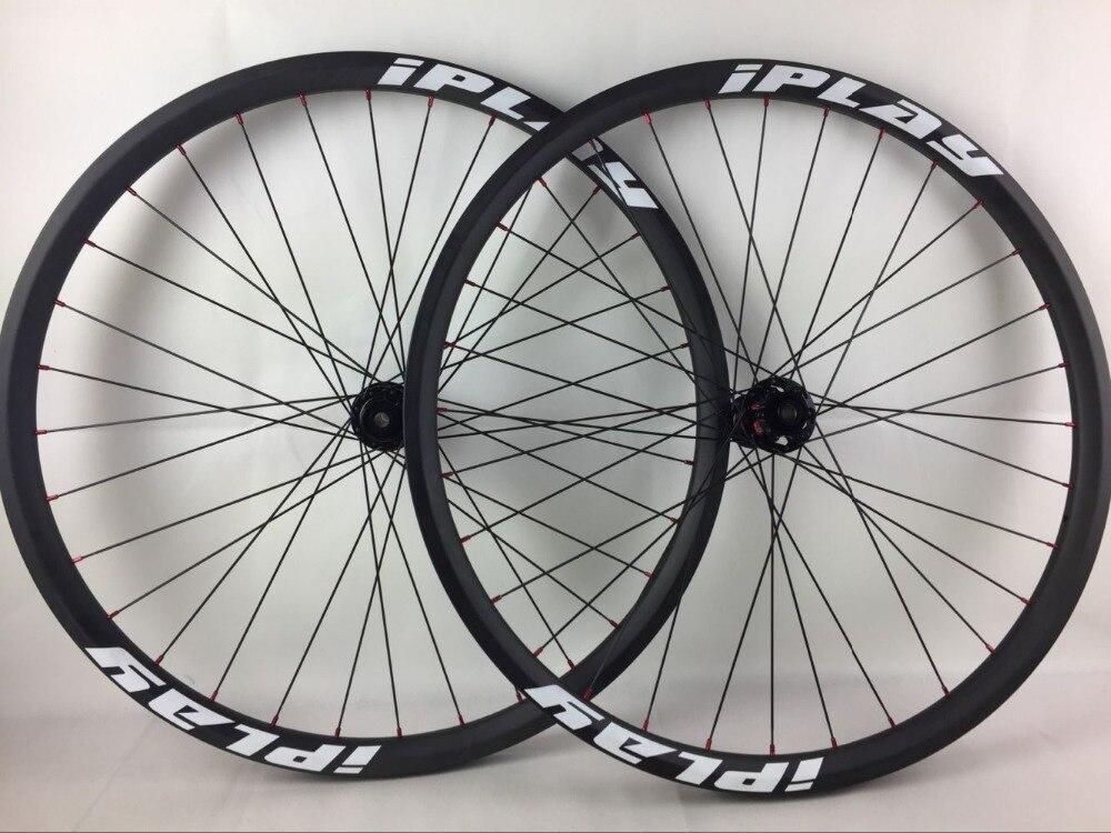 IPLAY 110/148 BOOST carbone vtt roue BOOST 27.5er roue en fibre de carbone 35mm largeur 650b roue en carbone vtt carbone 650B roues