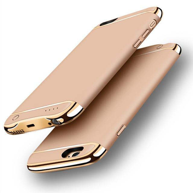 Casos case 3000/4500 mah carregador de bateria externo portátil power bank para iphone 6 6 s 7 além de backup carregador tampa do telefone