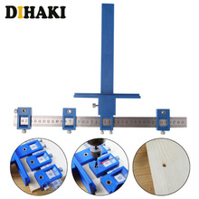 купить Detachable Hole Punch Locator Tool Multi-function Adjustable Drilling Dowelling Hole Saw for Cabinet Hardware Wood Drilling дешево