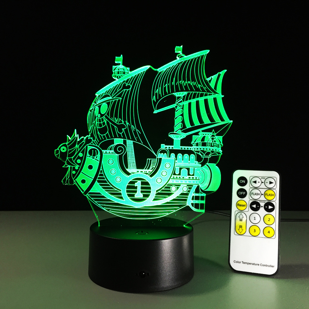 One Piece THOUSAND SUNNY 3D Led Night Light Color Changing Lamp One Piece Boat Action Figure Colorful USB LED Acrylic LightingOne Piece THOUSAND SUNNY 3D Led Night Light Color Changing Lamp One Piece Boat Action Figure Colorful USB LED Acrylic Lighting