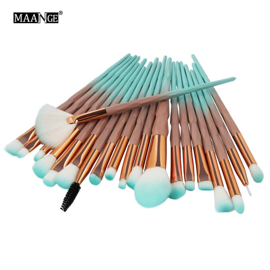 New Pro Makeup Brush 20PCS MAANGE Women Cosmetic Foundation Eyeshadow Brush Eye Lip Makeup Brushes Set Beauty Brush Tool Pretty 10 15 pcs professional mermaid makeup brush set eyeshadow lip brush eye beauty tools for women cosmetic brushes kits