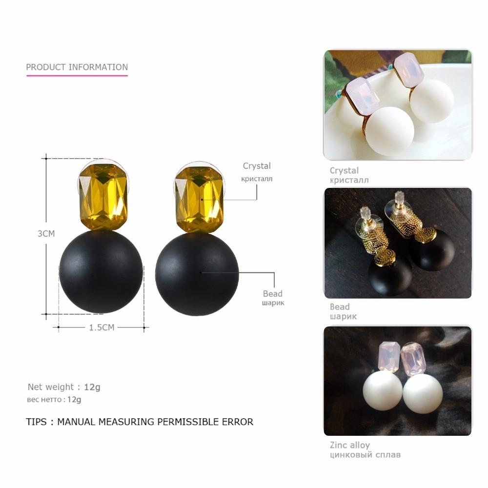 eManco Engros Vægt Stud Krystal Øreringe 3 Varer sort & hvid perler - Mode smykker - Foto 4
