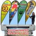 """Envío gratis Gráfico impresión personalizada para """"P"""" tipo reemplazo gráfico de lágrima bandera de la promoción, celebración, publicidad evento"""
