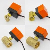 Válvula de accionamiento eléctrico, AC220V DC24V DC12V Válvula de Bola Eléctrica, latón Válvula de Bola Motorizada, interruptor eléctrico de tipo de dos vías válvulas