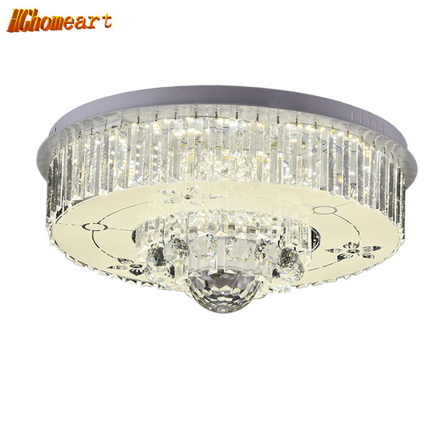 HGHomeart Fashionable Ceiling Light LED Bluetooth Crystal Music ...