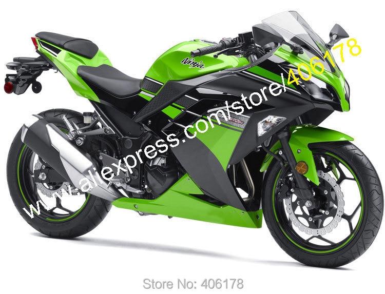 Hot Sales,For Kawasaki Ninja 300R 2013 2014 2015 2016 EX300 Ninja300 EX 300 Green Black Motorcycle Fairings (Injection molding)