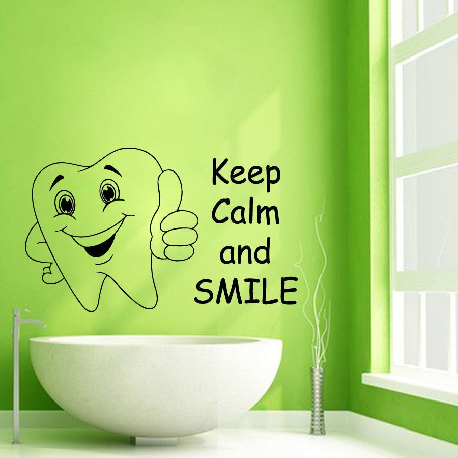 Keep Calm And Smile Quotes: Aliexpress.com : Buy Teeth Sticker Dentist Decal Wall