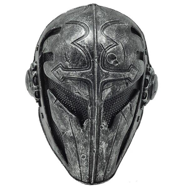 ペイントボールエアソフトワイヤーメッシュテンプラ生地プラスチックマスク(ブラック)スポーツヘルメット  グループ上の スポーツ & エンターテイメント からの ヘルメット の中 1