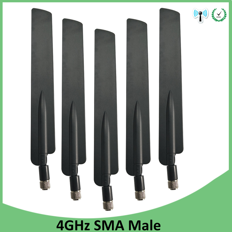 5pcs 3G 4G LTE Antenna SMA Male Connector 10DBI Antenne 698~960MHz /1710~2690MHz For Huawei Wireless Router Modem Repeater