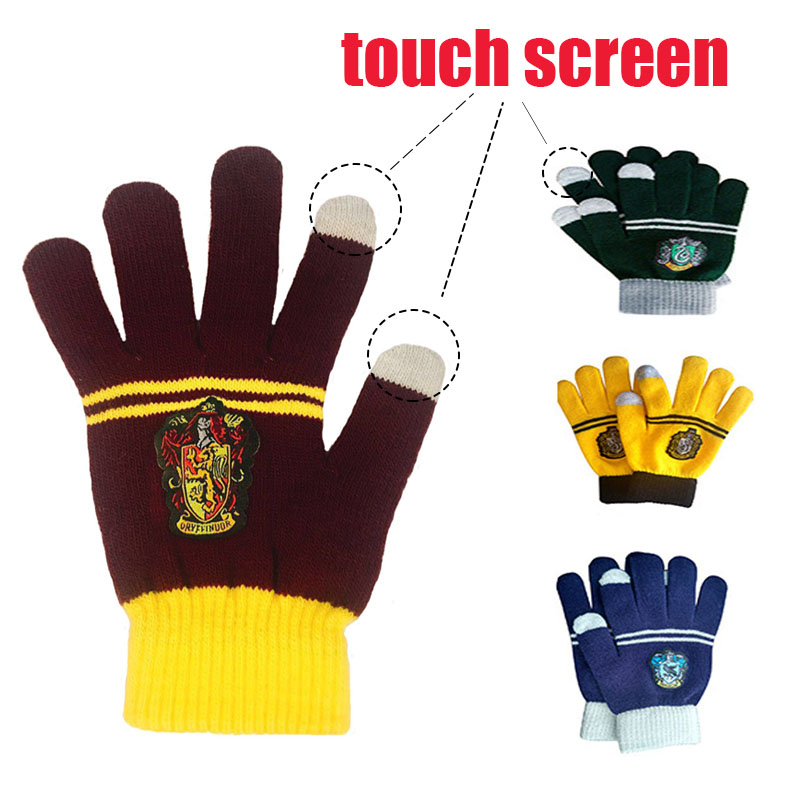 Cosplay Gryffindor Slytherin Hufflepuff Ravenclaw  Scarf Gloves Hat Halloween Costume Kids Christmas Party Supplies