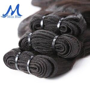 Image 4 - Missblue 生インドのバージンヘアバンドルグレード 10A インディアンナチュラルストレート人間の毛髪織り延長 1 3 4 10p/送料無料