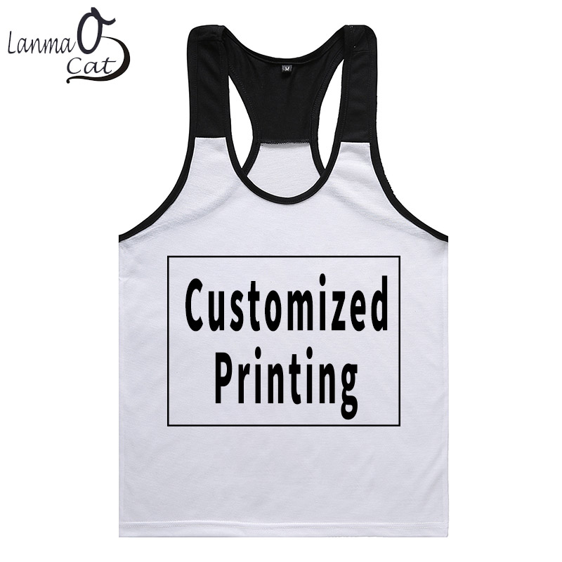Us 10 19 15 Off Lanmaocat Bodybuilding Fitness Male Tank Tops Custom Print Sleeveless Top Shirts Vest Men Muscle Clothes Xl L Free Shipping In