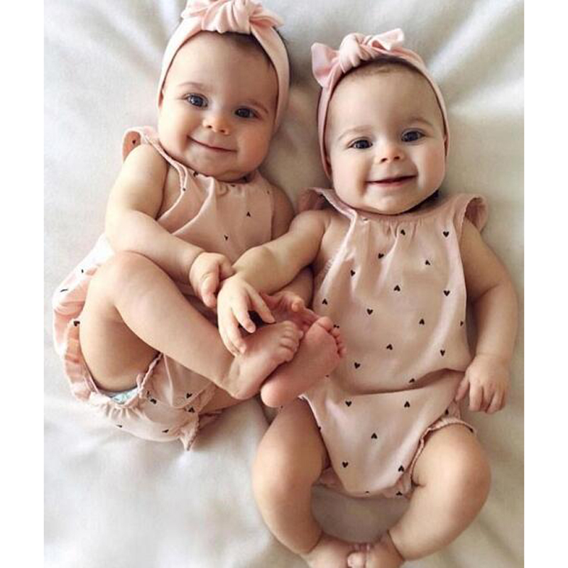 Newborn Baby Girls Thanksgiving O-Neck Sleeveless Romper With Headband Clothes Outfit Cotton Cute Printed Romper For Baby Girls