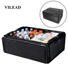 VILEAD портативный складной 60л кулер коробка для пикника кемпинга на открытом воздухе самоуправляемая дорожная коробка с теплозащитой водонепроницаемый ящик для хранения